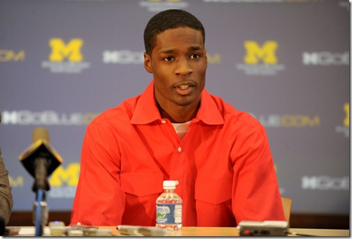 University of Michigan basketball player Manny Harris announced his decision to leave U-M early in order to enter his name into the NBA draft during a press conference at the Junge Family Champions Center on U-M's campus on March 29, 2010.  Angela J. Cesere | AnnArbor.com