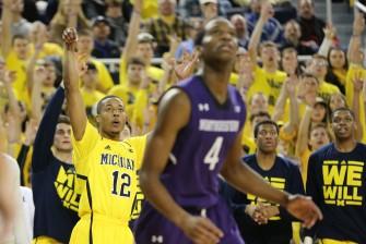 Michigan 56, Northwestern 54-9