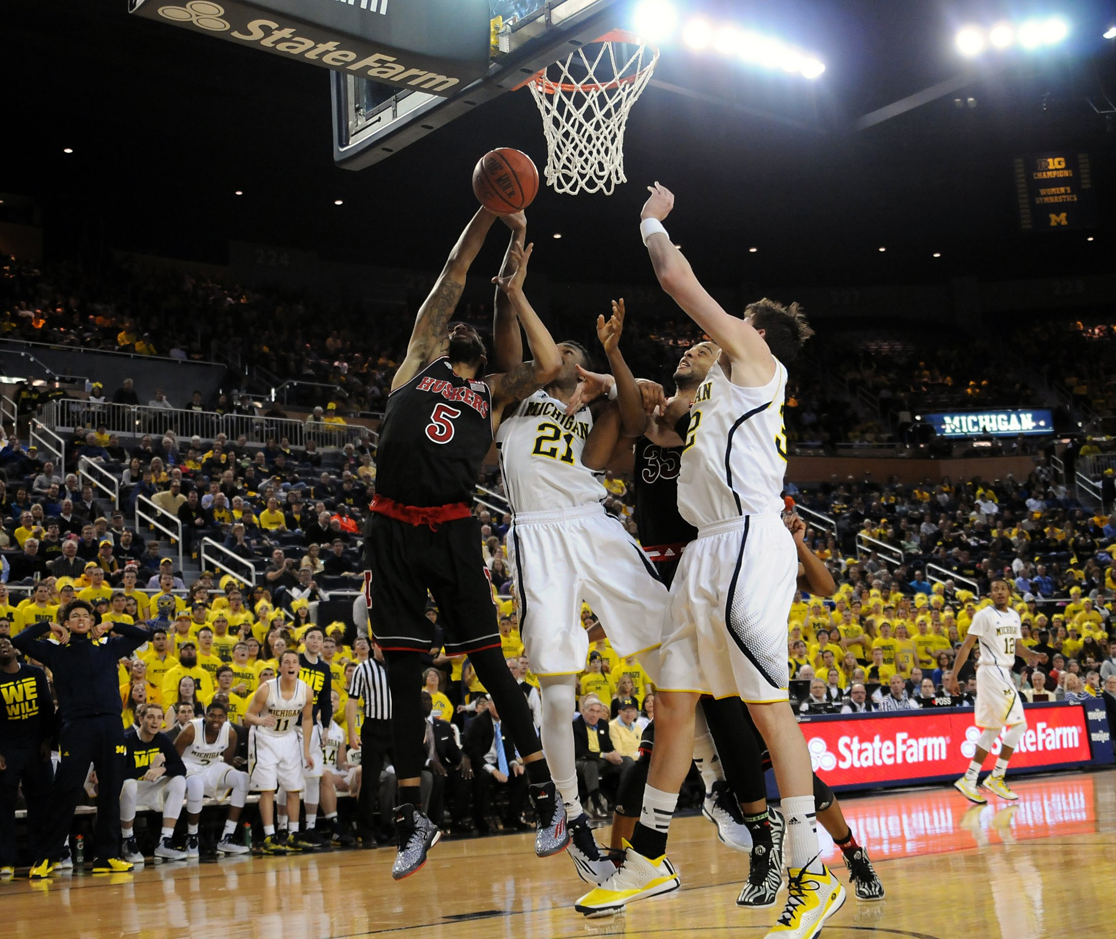 Michigan 58, Nebraska 44 – #15