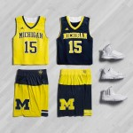 Michigan to wear color block uniforms in postseason