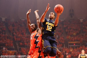Illinois 64, Michigan 52 (OT) -5