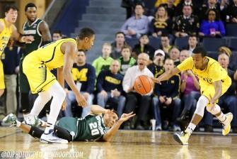 Michigan State 80, Michigan 67-13