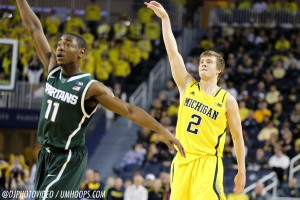 Michigan State 80, Michigan 67-19