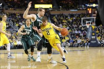 Michigan State 80, Michigan 67-5