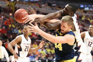 Michigan 73, Illinois 55-22