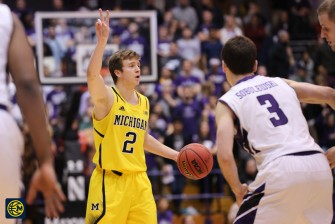 Northwestern 82, Michigan 78-16