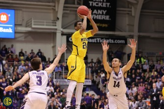 Northwestern 82, Michigan 78-18