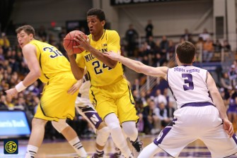 Northwestern 82, Michigan 78-2