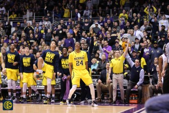 Northwestern 82, Michigan 78-22
