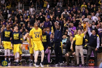 Northwestern 82, Michigan 78-23