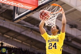 Northwestern 82, Michigan 78-3