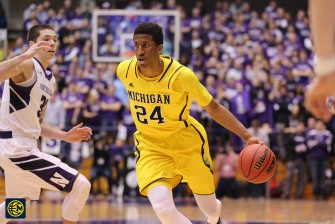 Northwestern 82, Michigan 78-5