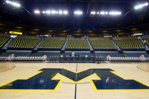 3/3/13 The University of Michigan men's basketball team defeats Michigan State, 58-57, at Crisler Center in Ann Arbor, Michigan.