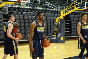 Michigan First Practice 2015-16 - #15