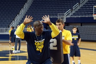 Michigan First Practice 2015-16 - #16