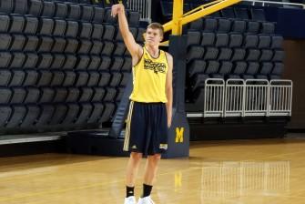 Michigan First Practice 2015-16 - #5