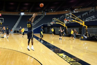 Michigan First Practice 2015-16 - #8