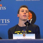 Video: John Beilein, Duncan Robinson, Caris LeVert and Derrick Walton talk win over Texas