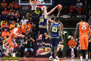 Michigan 78, Illinois 68-15