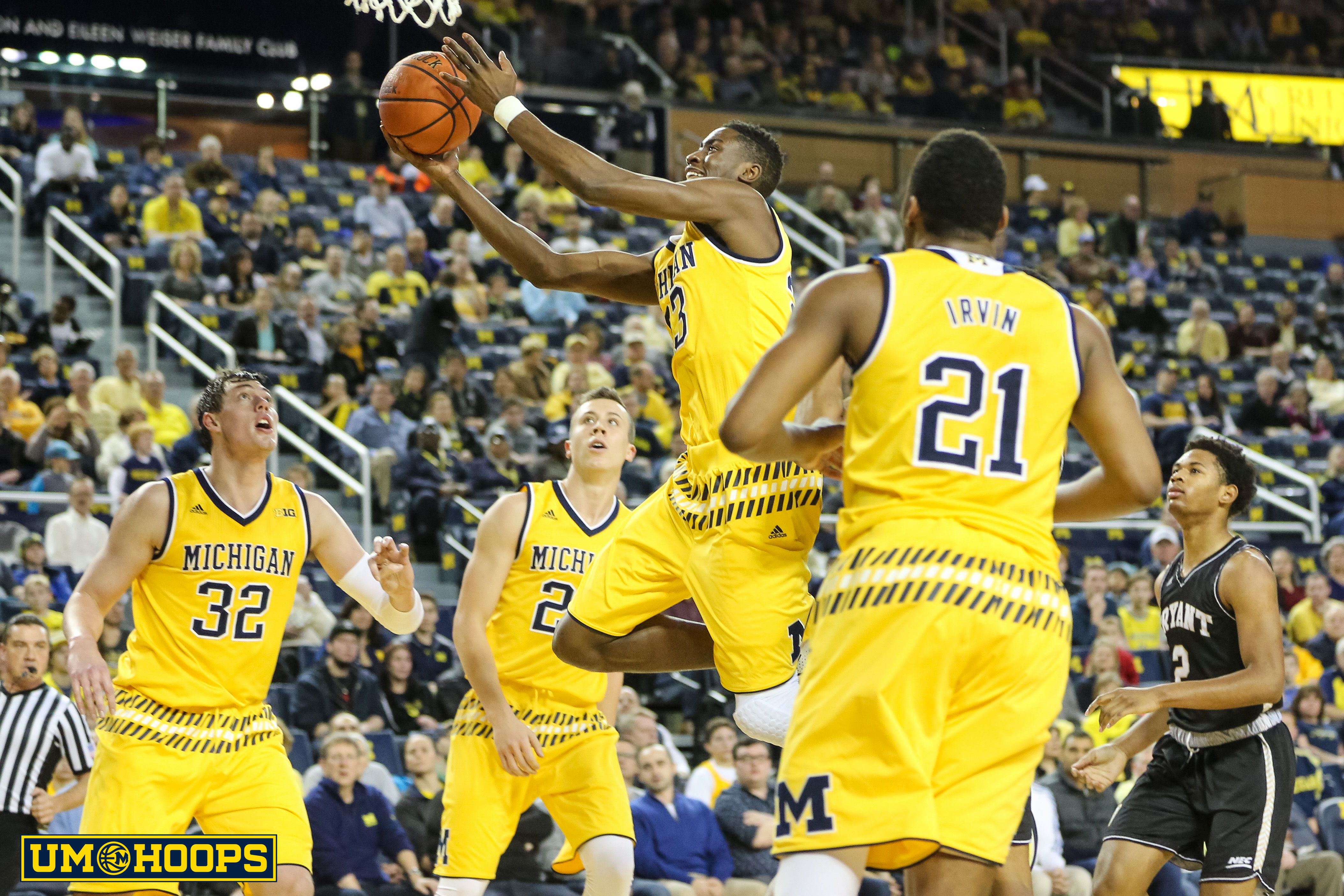 Michigan 96, Bryant 60-2