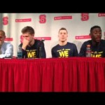 Video: Caris LeVert, Duncan Robinson and Moritz Wagner talk win at N.C. State